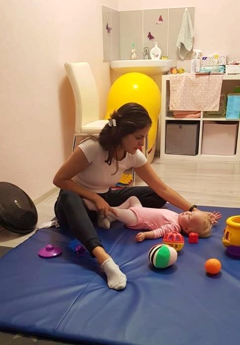 Lea na fyzioterapii s Luckou
